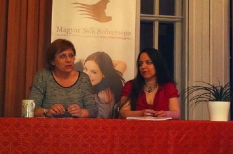 Alföldi Andrea (elnök, Magyar Nők Szövetsége) és Antoni Rita (elnök, Nőkért Egyesület)