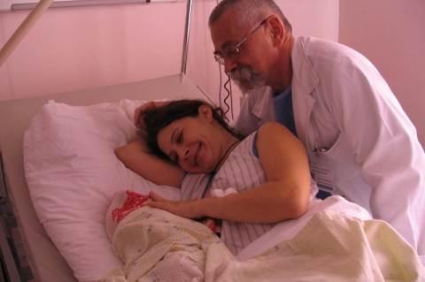 A szerző gyermekével és dr. Bálint Sándorral