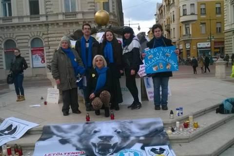 Együtt az állatkínzás ellen, Szeged, 2016. febr. 20.
