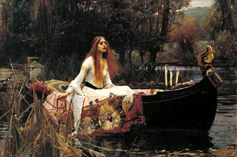 John William Waterhouse: The Lady of Shalott 1888