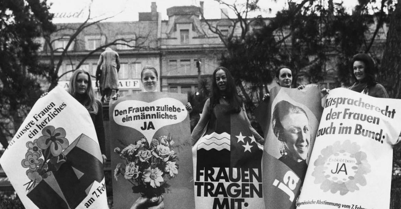 Svájci nők tüntetése 1971-ben