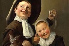 Judith Leyster: Kisfiú és kislány macskával és angolnával (ca. 1635)