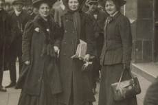 Minnie Baldock, Christabel Pankhurst és Edith New