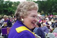 Sarah Weddington 2004-ben egy nőjogi tüntetésen. Fotó: Patty Mooney