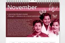 Kiemelkedő nők 13 lapos havi falinaptár - november