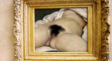 Gustave Courbet: A világ eredete című festménye (1866, Musée d'Orsay)