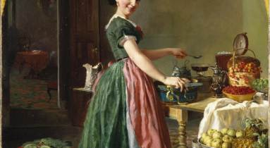 Lilly Martin-Spencer: Kiss Me and You'll Kiss the 'Lasses (1856)