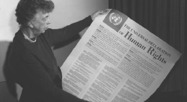 Eleanor Roosevelt az Emberi Jogok Egyetemes Nyilatkozatával